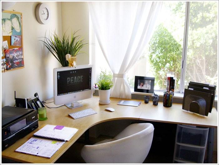corner home office