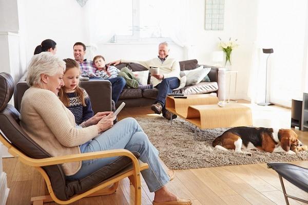 A big family bonding in the livingroom